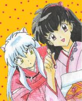 Inuyasha and Kagome by Ravyn-Karasu