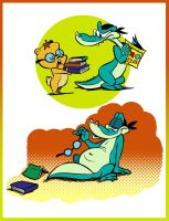 Croc and wise guy by JuneDuck21