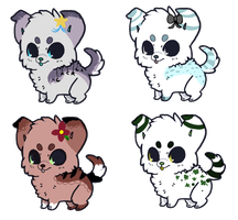 Puppy Adoptables Auction 2 HOURS OPEN by SquidPup