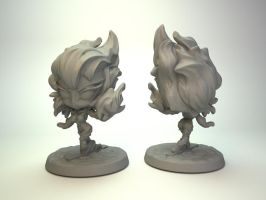Fire Mage for Impact Miniatures, 30mm miniature by zelldweller