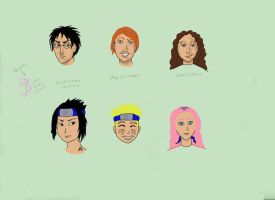 harry potter naruto comparison by DeeDraws