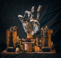 Alchemical glory hand by FraterOrion