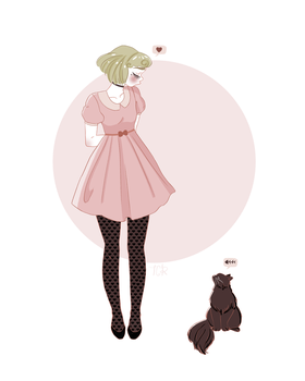 Lilah and Cat by tiachristine