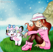 Contest: Alessa and Fairydramon by Deko-kun