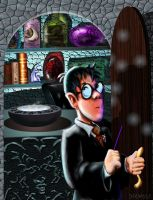 Harry and the Pensieve by inkwolf