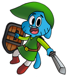 Gumball as Toon Link by WaniRamirez