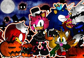 Halloween Sonic Team by Yoi-FireWitch