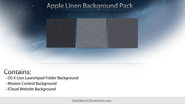 Apple Linen Background Pack by SaidSikiraX