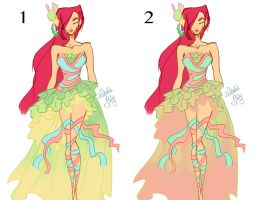Leah Harmonix Semi Final Colour Schemes by NatalieSaly