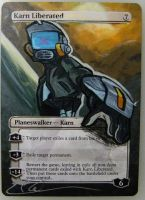mtg Altered - Karn Liberated Lord Canti by ClaarBar