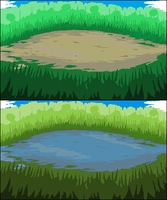 Grassy Battle Backgrounds by Lord-Myre