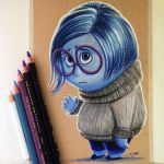 Sadness Drawing - Inside Out Fan Art by LethalChris
