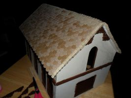 Gothic-ish Dollhouse 1:24 WIP 7: Shingles PART 2 by kayanah