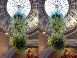 Chihuli Blown Glass In The V and A Grand Entrance by aegiandyad