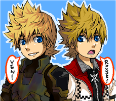Ven and Roxas by semokan