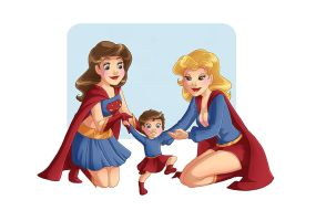Supergirl Family 5 - First Baby Steps by kclcmdr