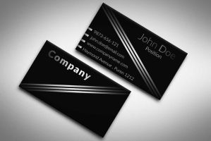 Elegant Black and White Business Card Template by BorceMarkoski
