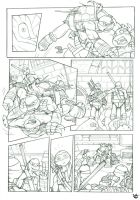 TMNT - IDW test page 2 by giulal