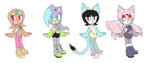 Character Redesign Adopts * 2 left* by Toony-Times