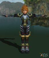 Ventus Armored Helmetless for XNALara by LexaKiness