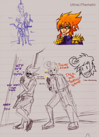 Sketch page: Dual Dorks. by UltraLiThematic