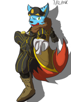 Assassin fursona thingy by Vent-Kazemaru