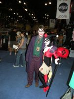 HL Joker and Harley NYCC '10 by armyofdeathchickens