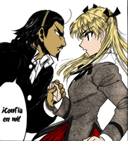Manga Color - Harima and Eri by Zedhwolf
