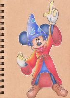Sorcerer Mickey Mouse by sketchwithtiff