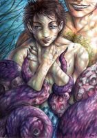Hannibal - The little merman and his captor by FuriarossaAndMimma
