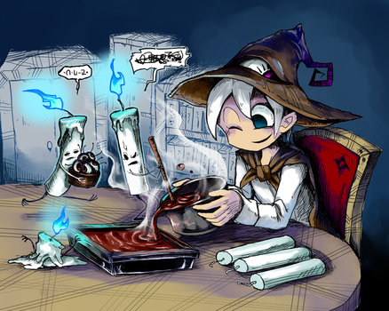 Making Chocolate With Candles by white-stew