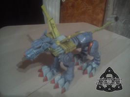 Digimon MetalGarurumon Papercraft Complete Left by HellswordPapercraft
