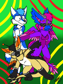 the epic Trio Idiots by NaMeTi