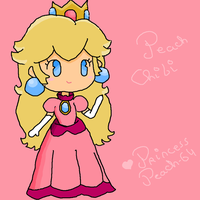 Peach Chibi by Princess-Peach-64