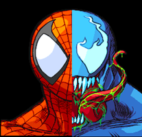 Spider Venom Face by camdencc
