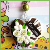 Chocolate Heart Cake Necklace2 by cherryboop