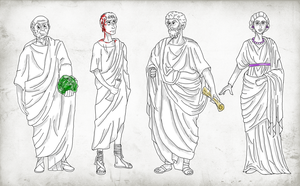 My Four Favorite Ancient Romans by Pelycosaur24