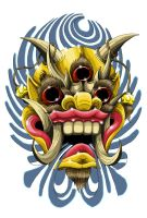 tibetan mask by funkt-green