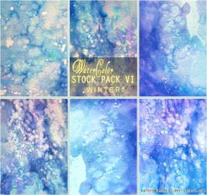 WINTER - WATERCOLOR STOCK PACK VI by AuroraWienhold