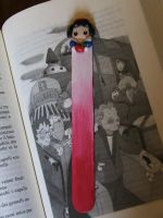 SNOW WHITE BOOKMARK by Libellulina