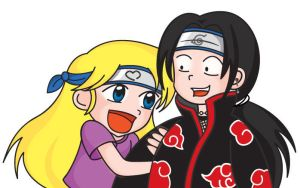 Itachi and me by Elichan83