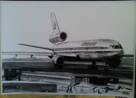 McDonnell - Douglas DC-10-10 drawing by alainmi