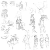 Dragon age sketches 02 by Ullervoinen