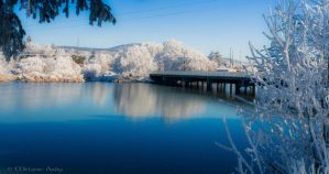 Klamath River Bridge by melmaya