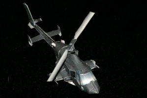 Mini Airwolf paper model 2 by ThunderChildFTC
