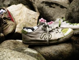 Shoes and Socks on Rocks by bibiaan