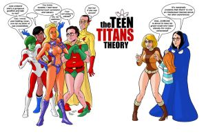 TLIID 151. The Teen Titans and The Big Bang Theory by AxelMedellin