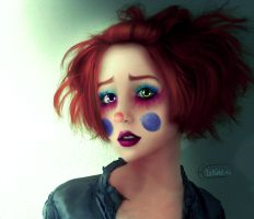 sad clown by kitkat523