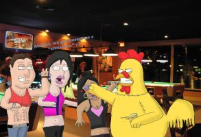 Ernie At Jersey Punches Snooks by beedrill1994