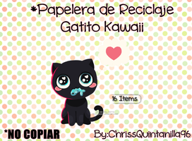 Papelera Gatito Kawaii by ChrissQuintanilla